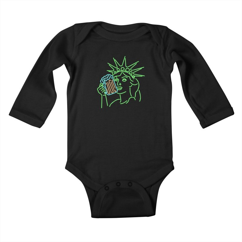 LiBEERty Kids Baby Longsleeve Bodysuit by Thirty Silver