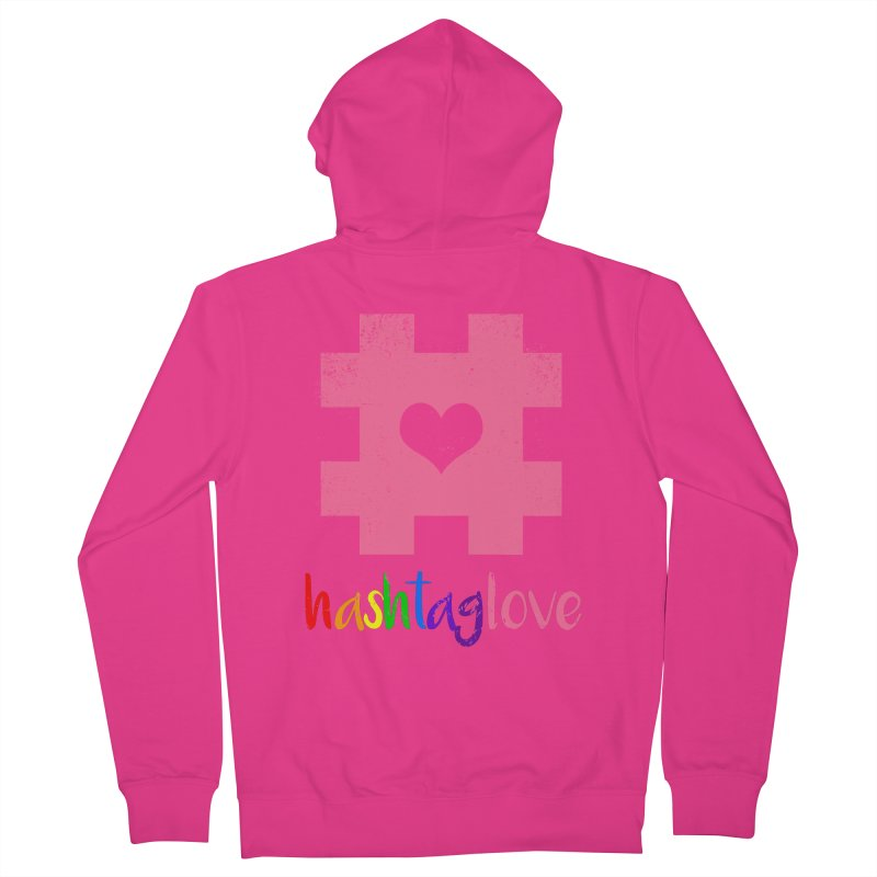 hashtaglove Men's French Terry Zip-Up Hoody by Thirty Silver