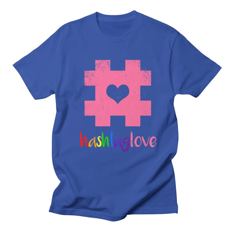 hashtaglove Men's Regular T-Shirt by Thirty Silver