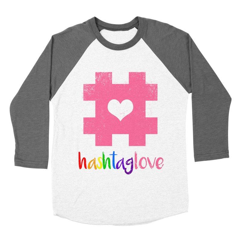 hashtaglove Women's Baseball Triblend Longsleeve T-Shirt by Thirty Silver