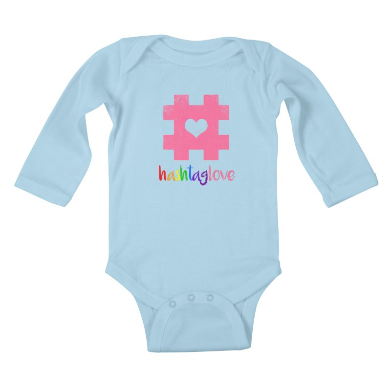 hashtaglove Kids Baby Longsleeve Bodysuit by Thirty Silver