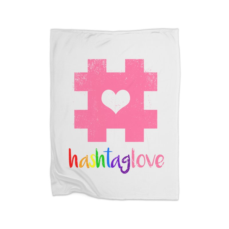 hashtaglove Home Fleece Blanket Blanket by Thirty Silver