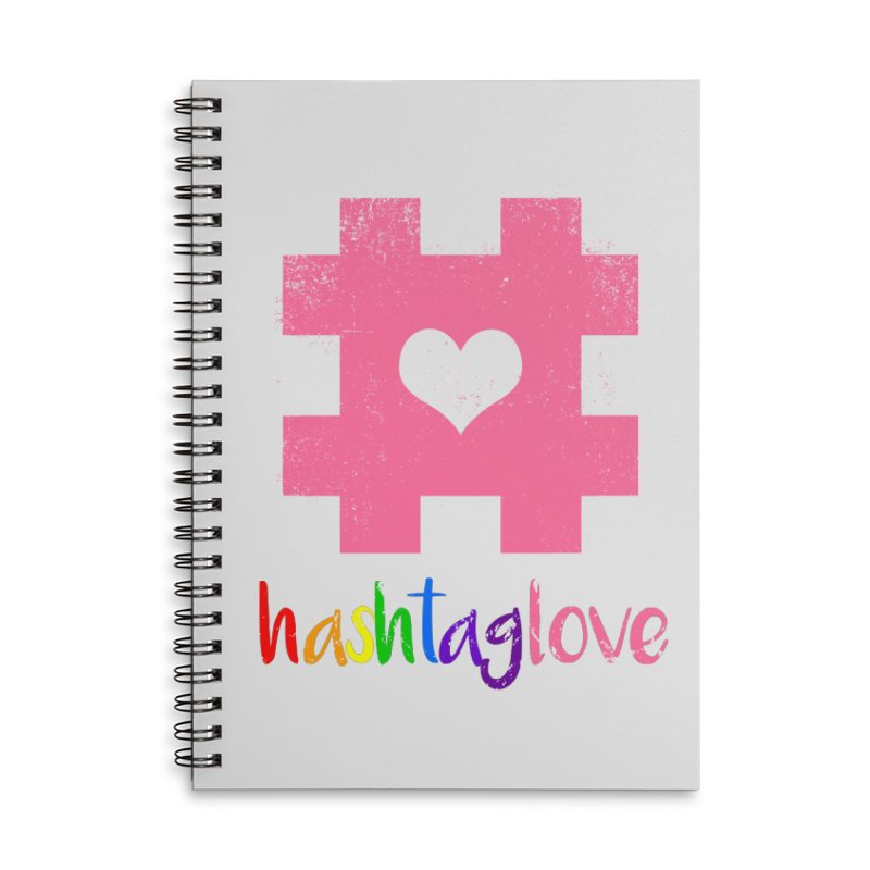 hashtaglove Accessories Lined Spiral Notebook by Thirty Silver
