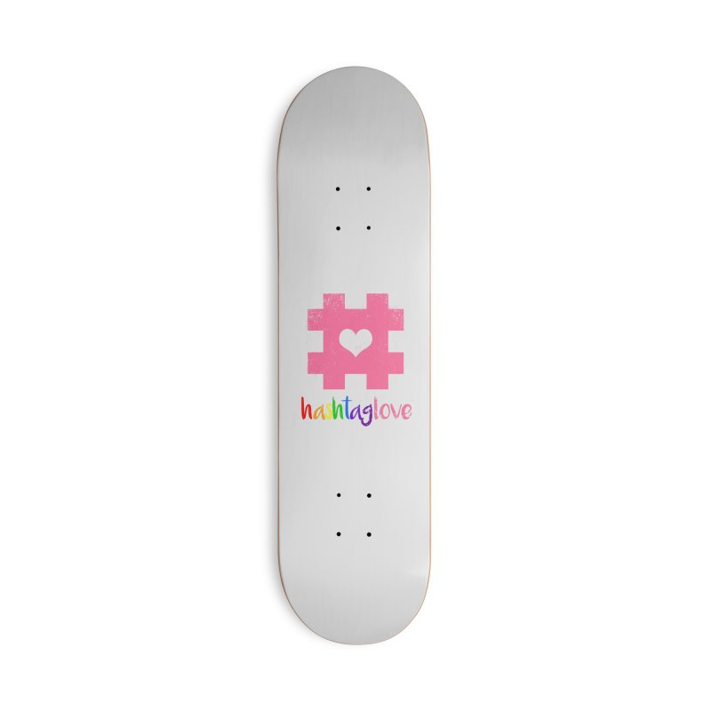 hashtaglove Accessories Deck Only Skateboard by Thirty Silver