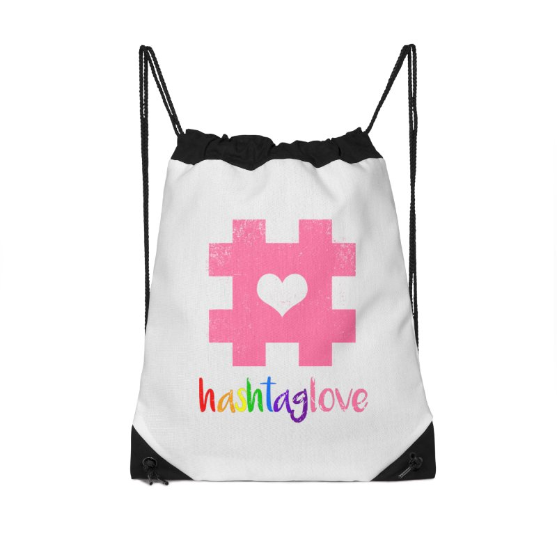 hashtaglove Accessories Drawstring Bag Bag by Thirty Silver