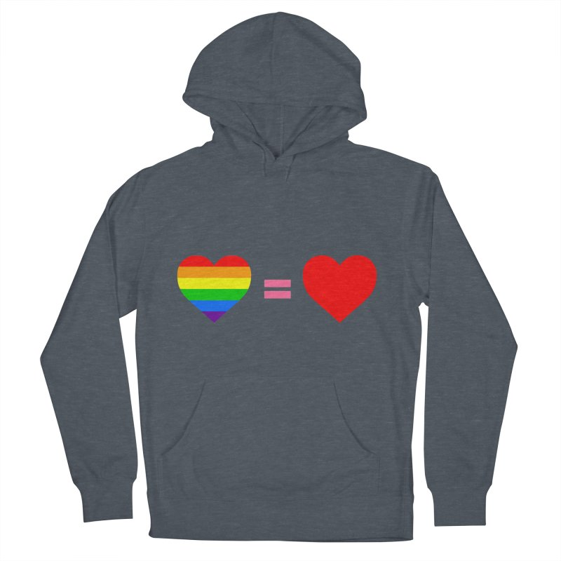 love is love Men's French Terry Pullover Hoody by Thirty Silver