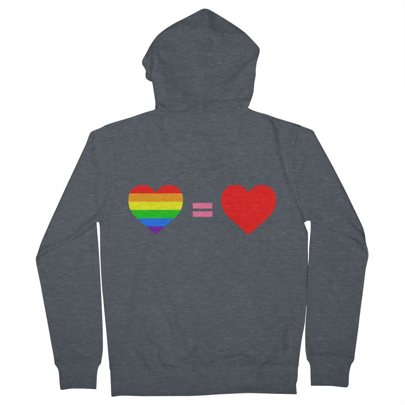 love is love Men's French Terry Zip-Up Hoody by Thirty Silver