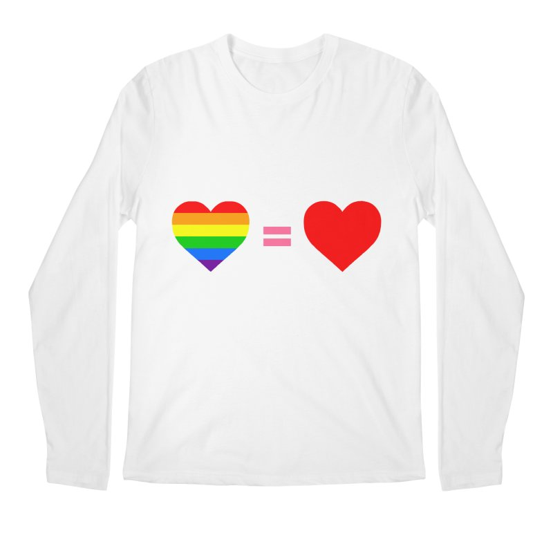 love is love Men's Regular Longsleeve T-Shirt by Thirty Silver
