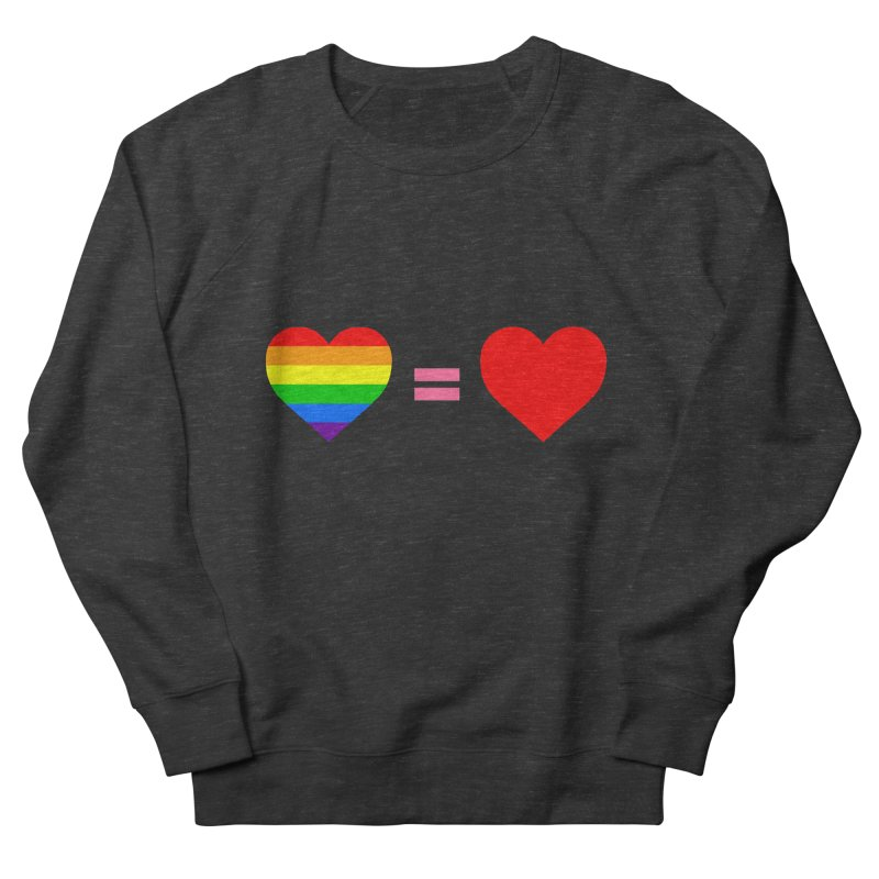 love is love Men's French Terry Sweatshirt by Thirty Silver