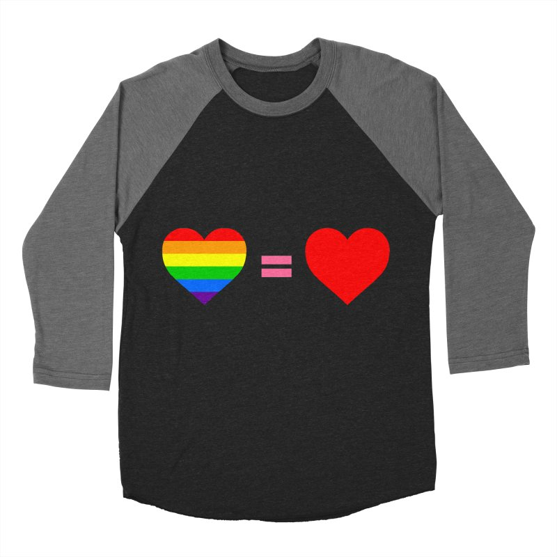 love is love Men's Baseball Triblend Longsleeve T-Shirt by Thirty Silver