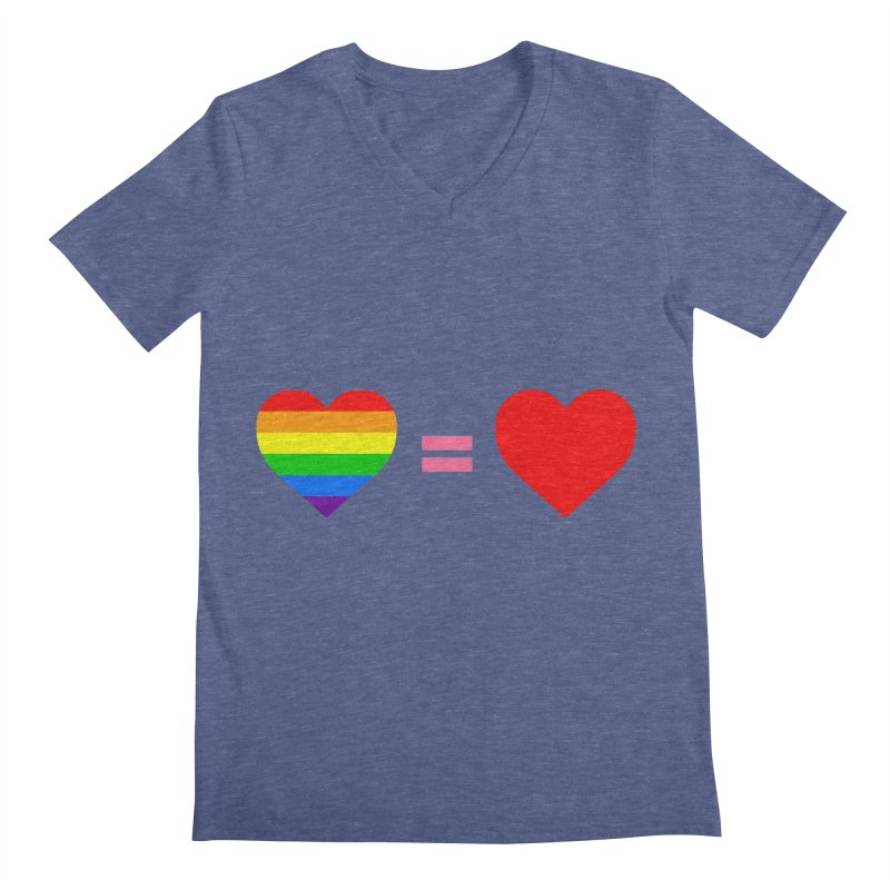 love is love Men's Regular V-Neck by Thirty Silver