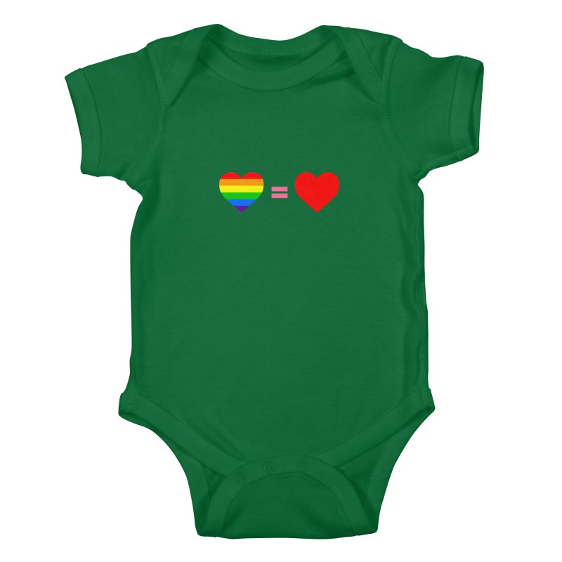 love is love Kids Baby Bodysuit by Thirty Silver