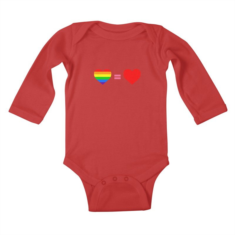 love is love Kids Baby Longsleeve Bodysuit by Thirty Silver
