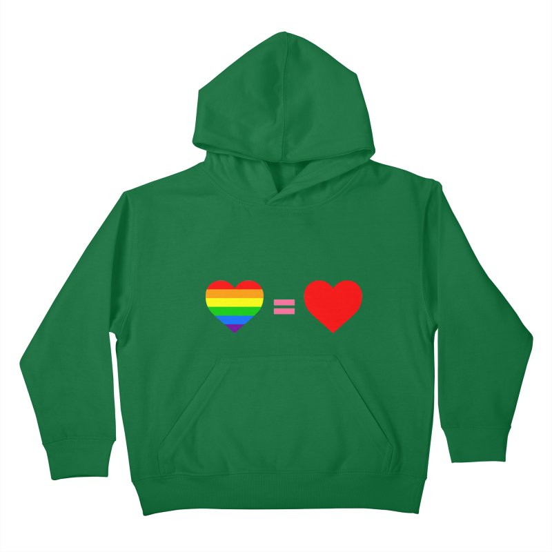love is love Kids Pullover Hoody by Thirty Silver