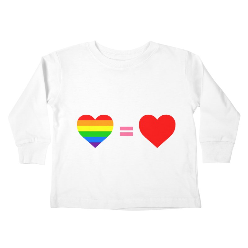 love is love Kids Toddler Longsleeve T-Shirt by Thirty Silver