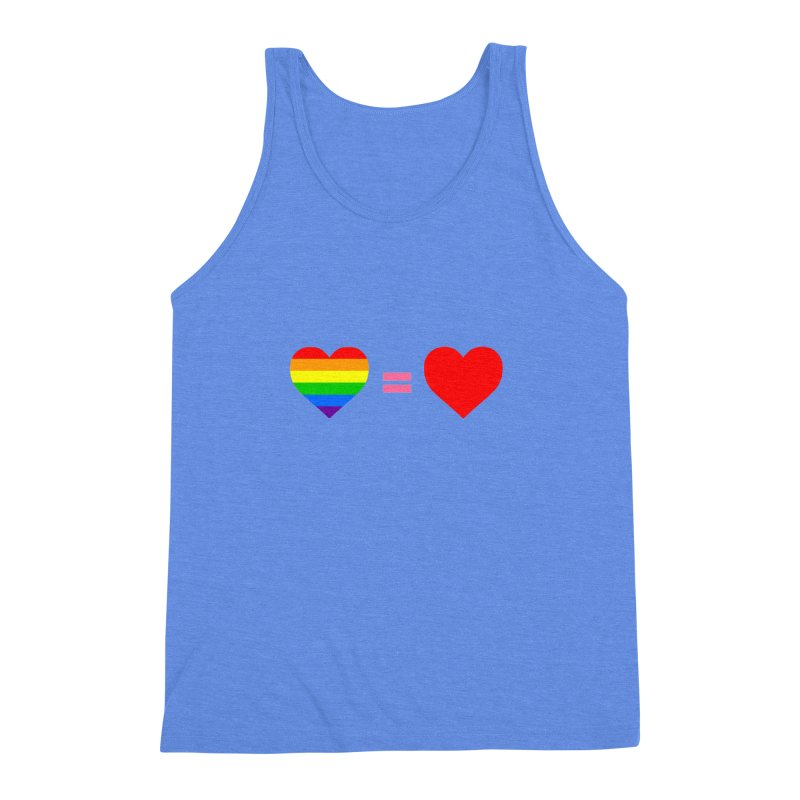 love is love Men's Triblend Tank by Thirty Silver