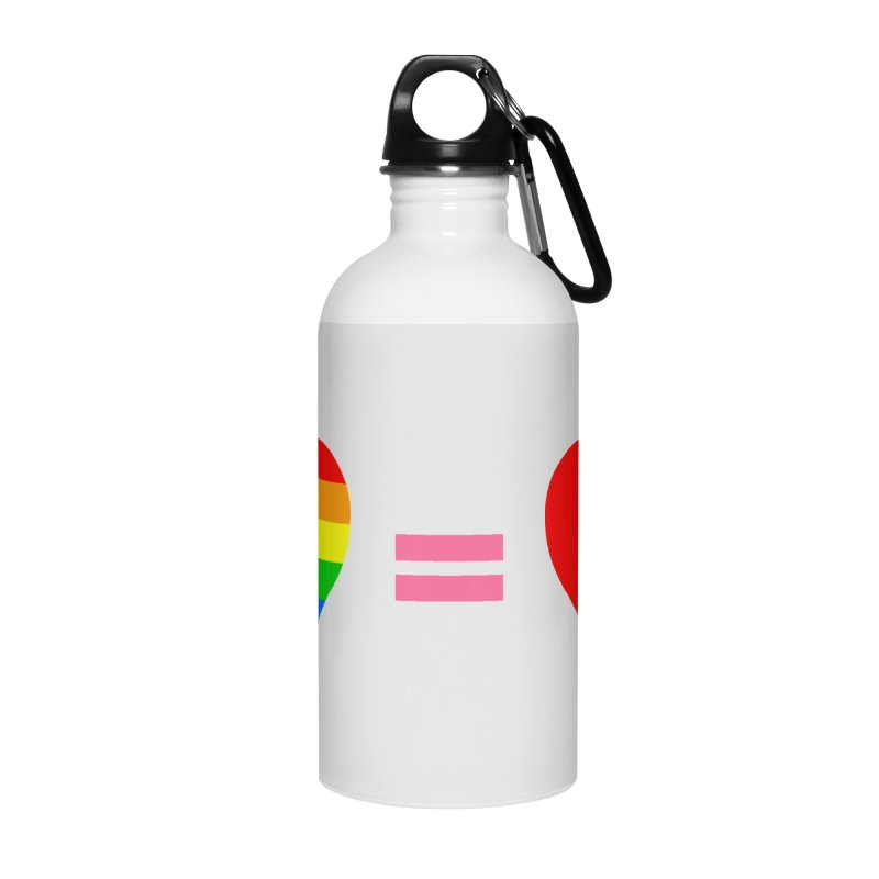 love is love Accessories Water Bottle by Thirty Silver