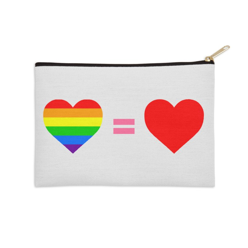 love is love Accessories Zip Pouch by Thirty Silver