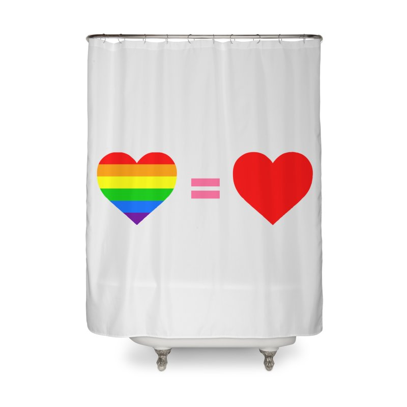 love is love Home Shower Curtain by Thirty Silver