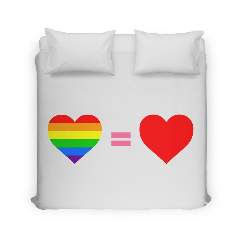 love is love Home Duvet by Thirty Silver