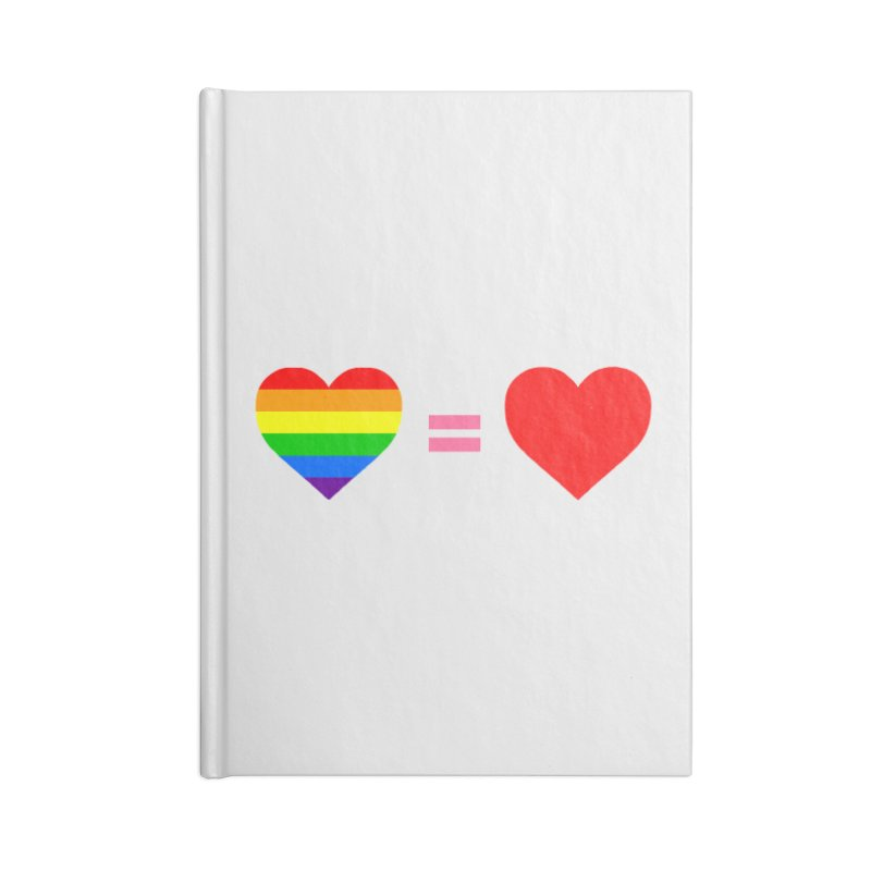love is love Accessories Lined Journal Notebook by Thirty Silver