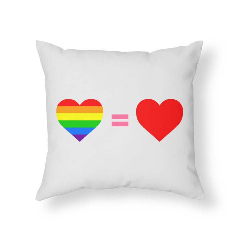 love is love Home Throw Pillow by Thirty Silver