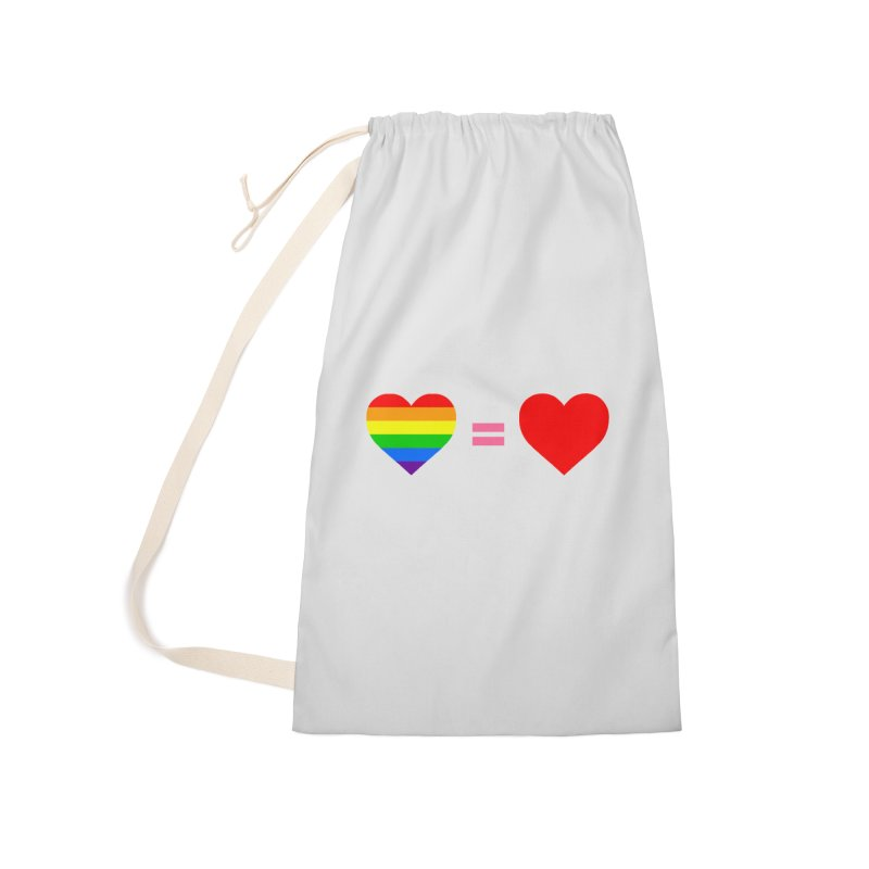 love is love Accessories Laundry Bag Bag by Thirty Silver