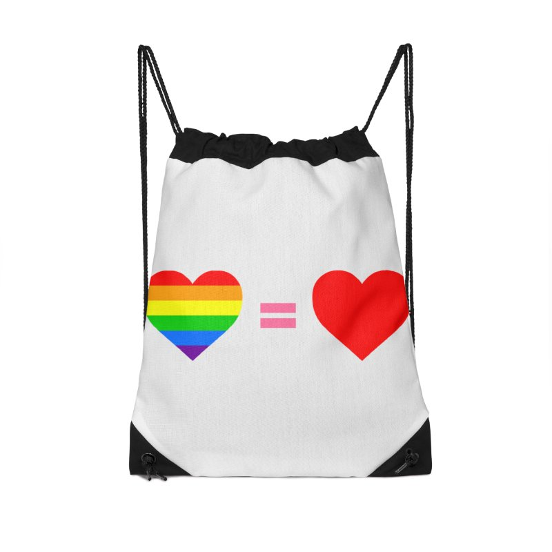 love is love Accessories Drawstring Bag Bag by Thirty Silver
