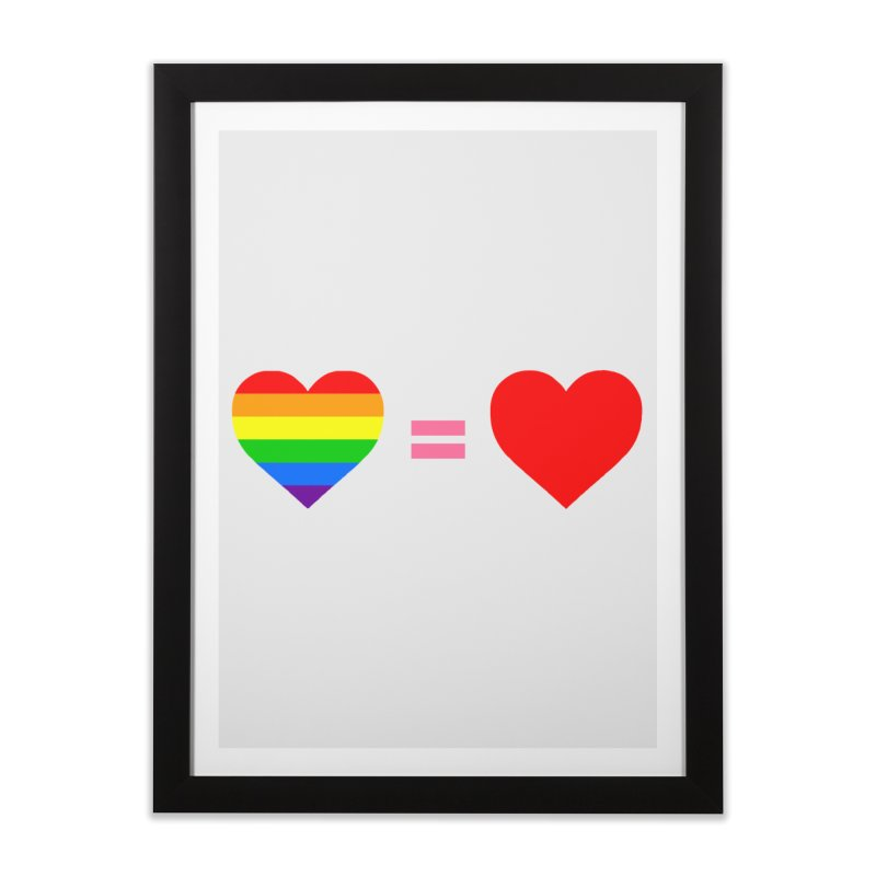 love is love Home Framed Fine Art Print by Thirty Silver