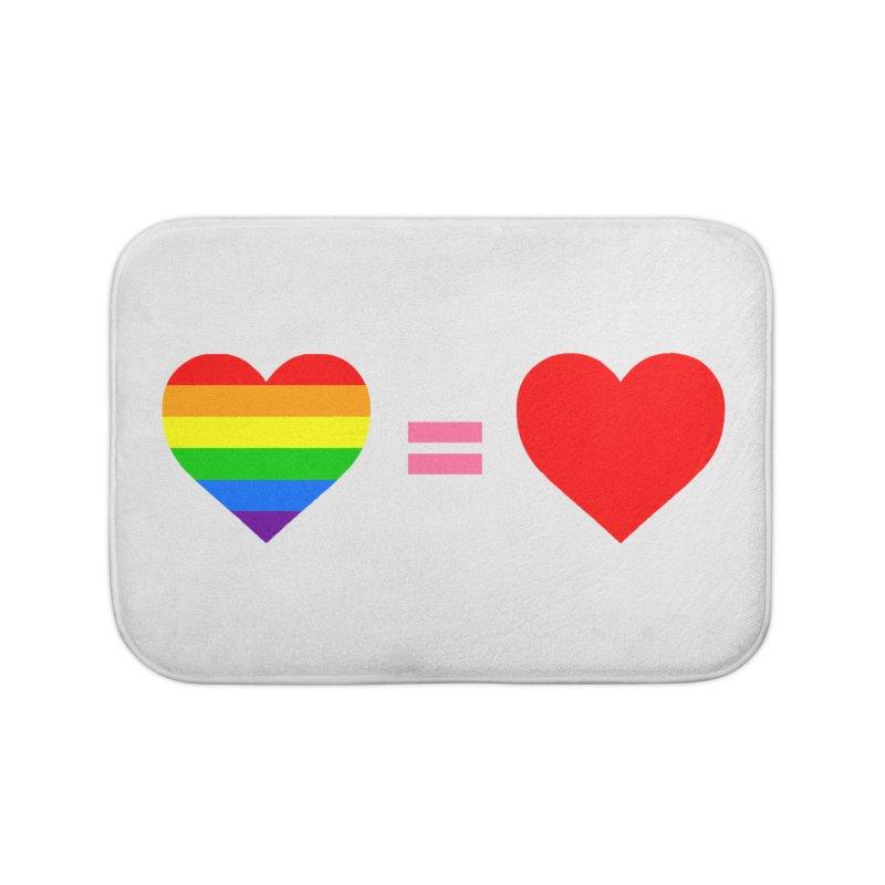 love is love Home Bath Mat by Thirty Silver