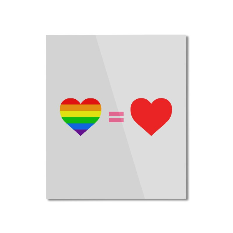 love is love Home Mounted Aluminum Print by Thirty Silver