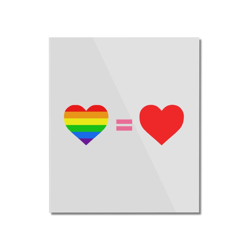 love is love Home Mounted Acrylic Print by Thirty Silver