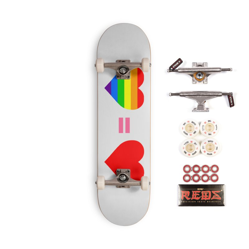 love is love Accessories Complete - Pro Skateboard by Thirty Silver