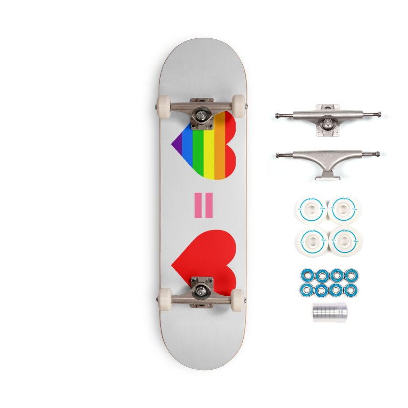 love is love Accessories Complete - Basic Skateboard by Thirty Silver
