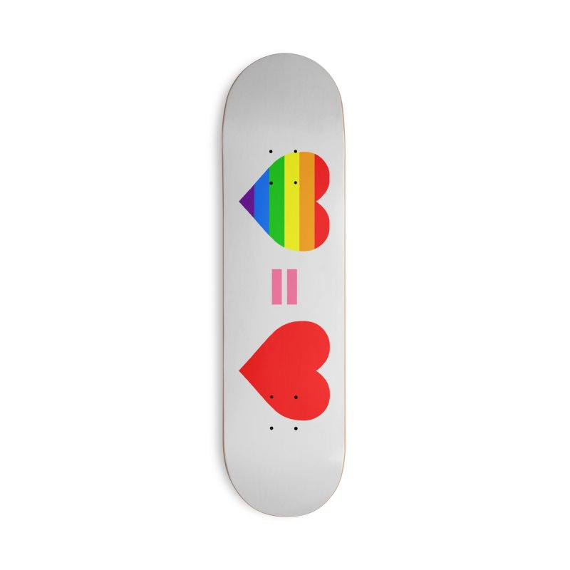 love is love Accessories Deck Only Skateboard by Thirty Silver
