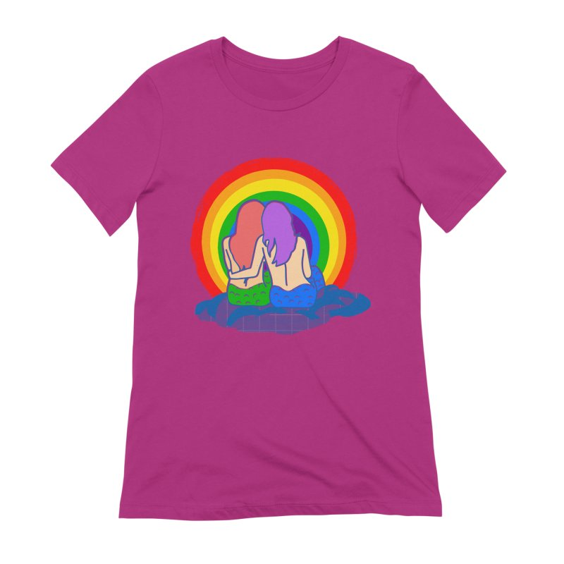 Mermaid for each other Women's Extra Soft T-Shirt by Thirty Silver