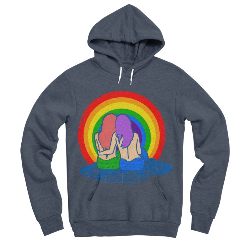 Mermaid for each other Women's Sponge Fleece Pullover Hoody by Thirty Silver