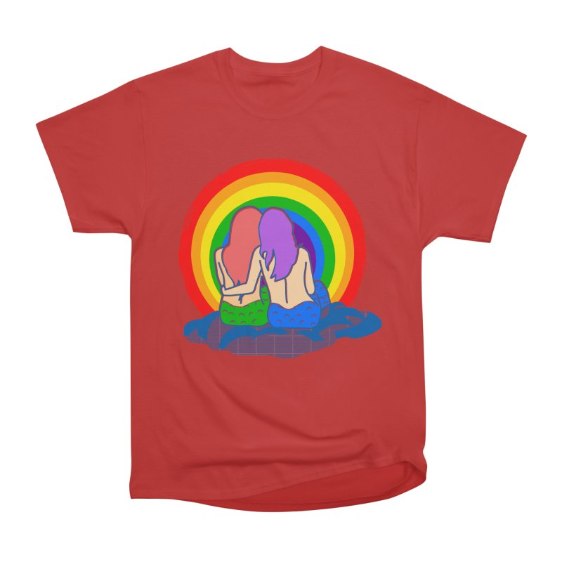 Mermaid for each other Men's Heavyweight T-Shirt by Thirty Silver