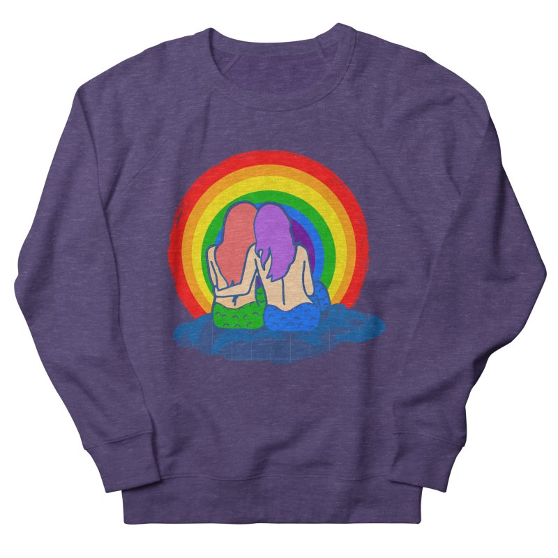 Mermaid for each other Women's French Terry Sweatshirt by Thirty Silver