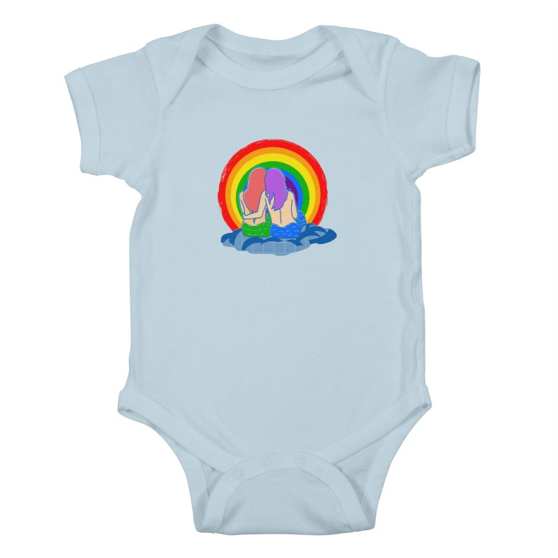 Mermaid for each other Kids Baby Bodysuit by Thirty Silver
