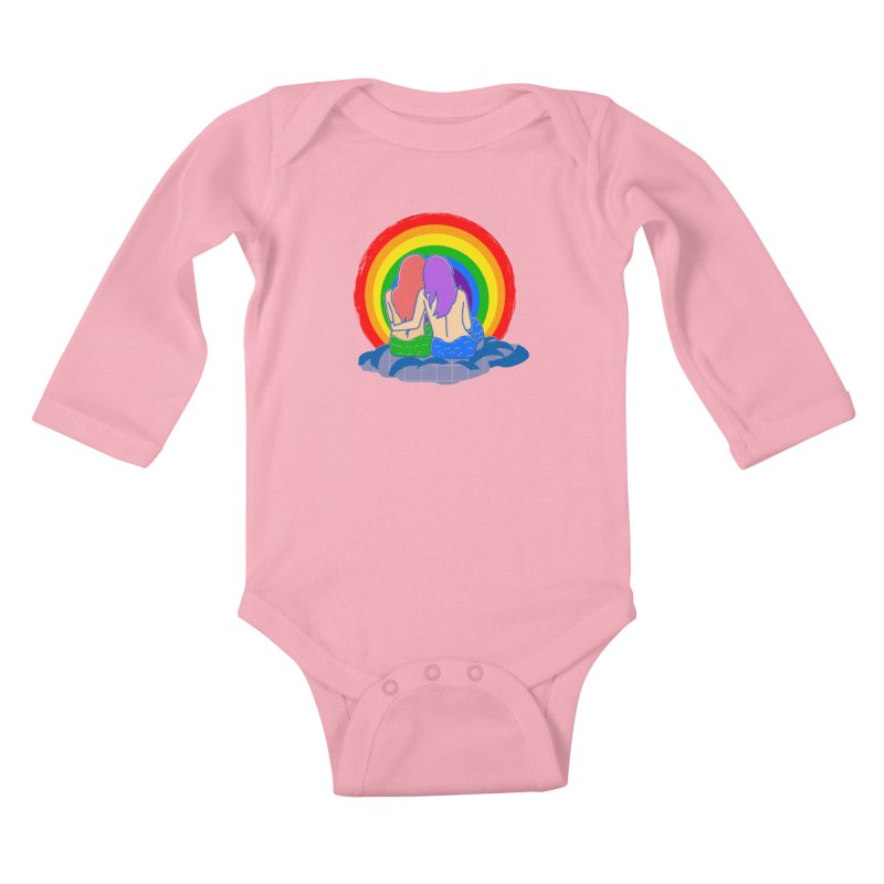 Mermaid for each other Kids Baby Longsleeve Bodysuit by Thirty Silver