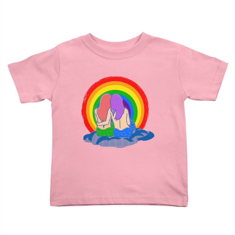 Mermaid for each other Kids Toddler T-Shirt by Thirty Silver