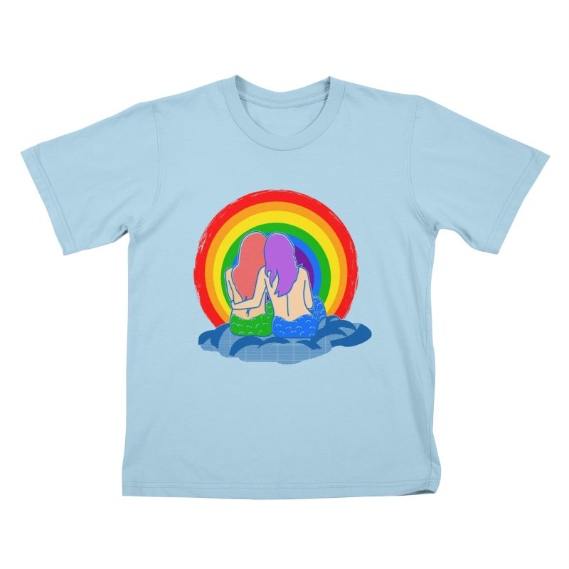 Mermaid for each other Kids T-Shirt by Thirty Silver