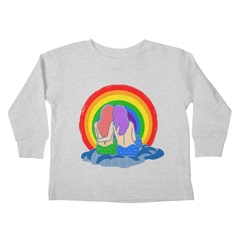 Mermaid for each other Kids Toddler Longsleeve T-Shirt by Thirty Silver