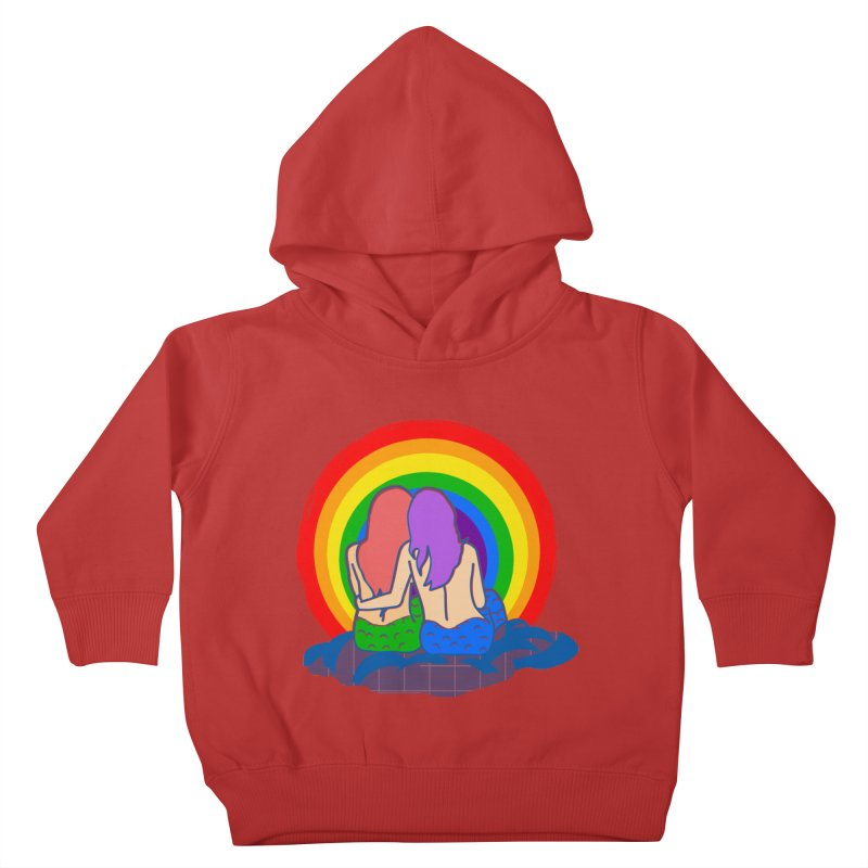 Mermaid for each other Kids Toddler Pullover Hoody by Thirty Silver