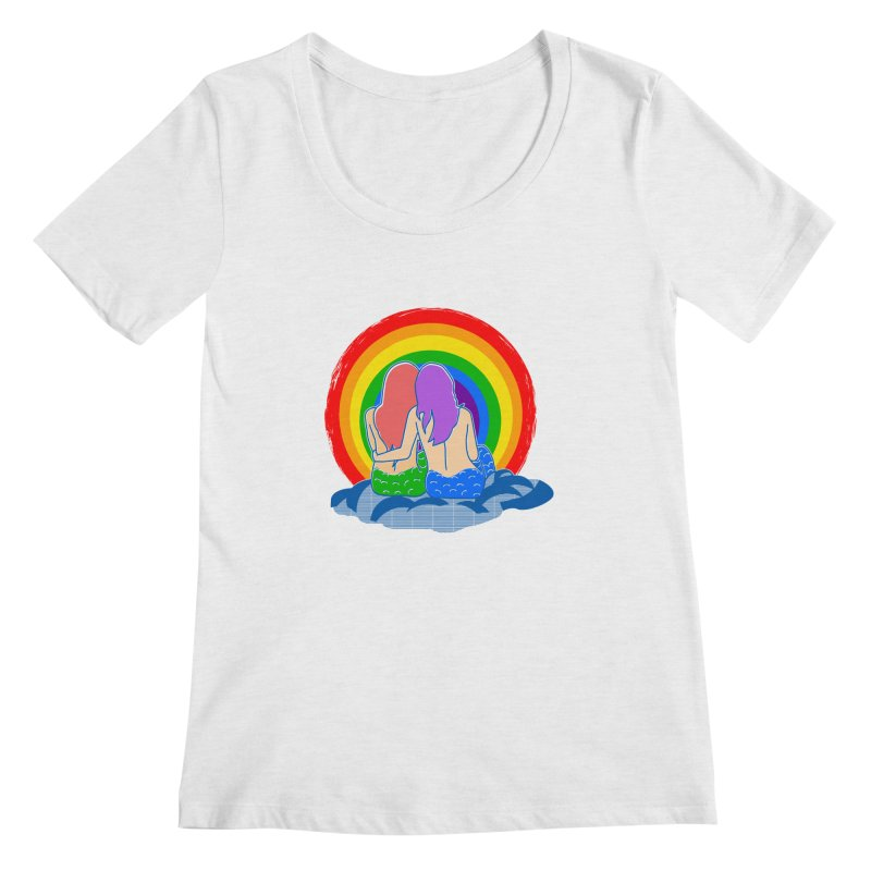 Mermaid for each other Women's Regular Scoop Neck by Thirty Silver