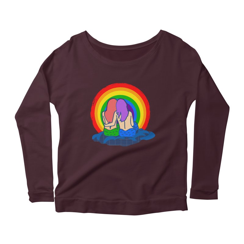 Mermaid for each other Women's Scoop Neck Longsleeve T-Shirt by Thirty Silver