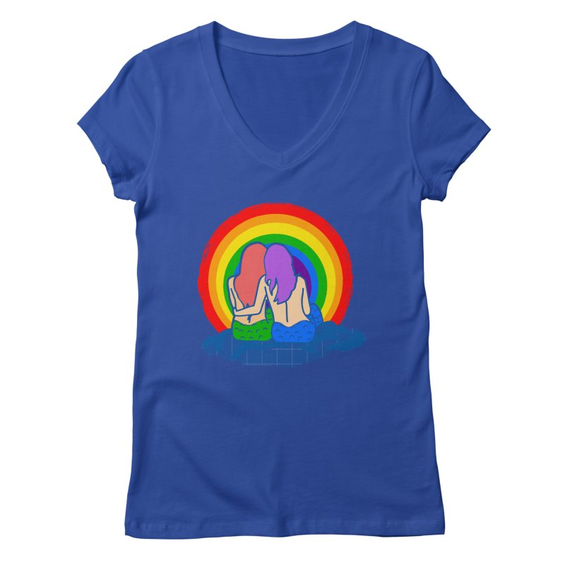 Mermaid for each other Women's Regular V-Neck by Thirty Silver