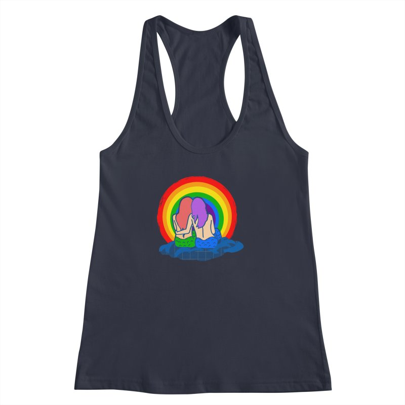 Mermaid for each other Women's Racerback Tank by Thirty Silver