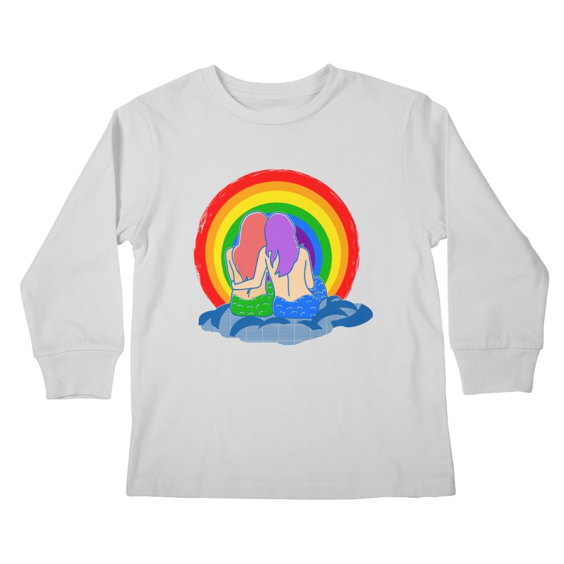 Mermaid for each other Kids Longsleeve T-Shirt by Thirty Silver